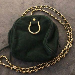 Handbags - EUC green suede crossbody